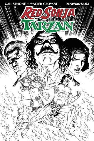 Red Sonja / Tarzan #2 (10 Copy Geovani B&W Cover)