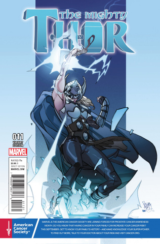 The Mighty Thor #11 (Ferry Cancer Awareness Cover)