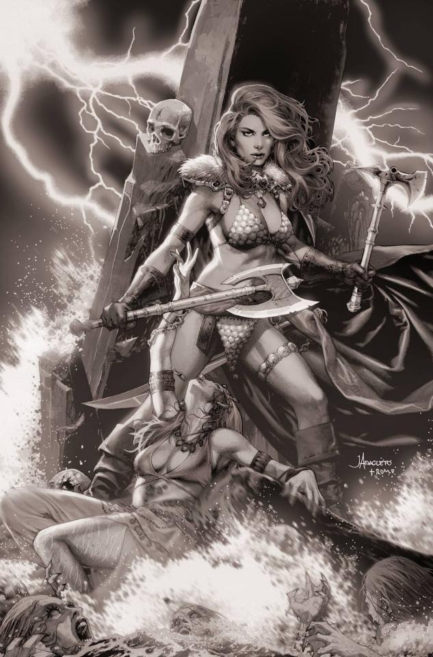 Red Sonja #2 (15 Copy Anacleto B&W Virgin Cover)