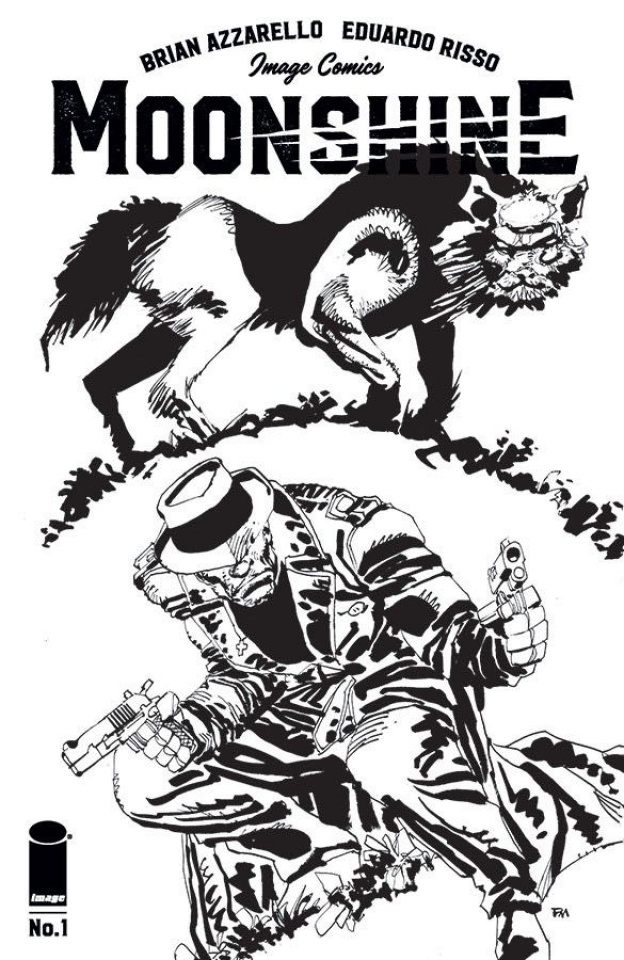 Moonshine #1 (Miller B&W Cover)