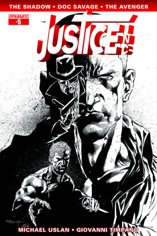 Justice, Inc. #5 (15 Copy Syaf B&W Cover)