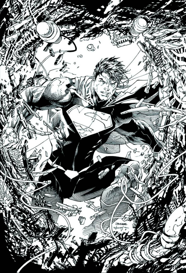 Superman Unchained #1 (Black & White Cover)