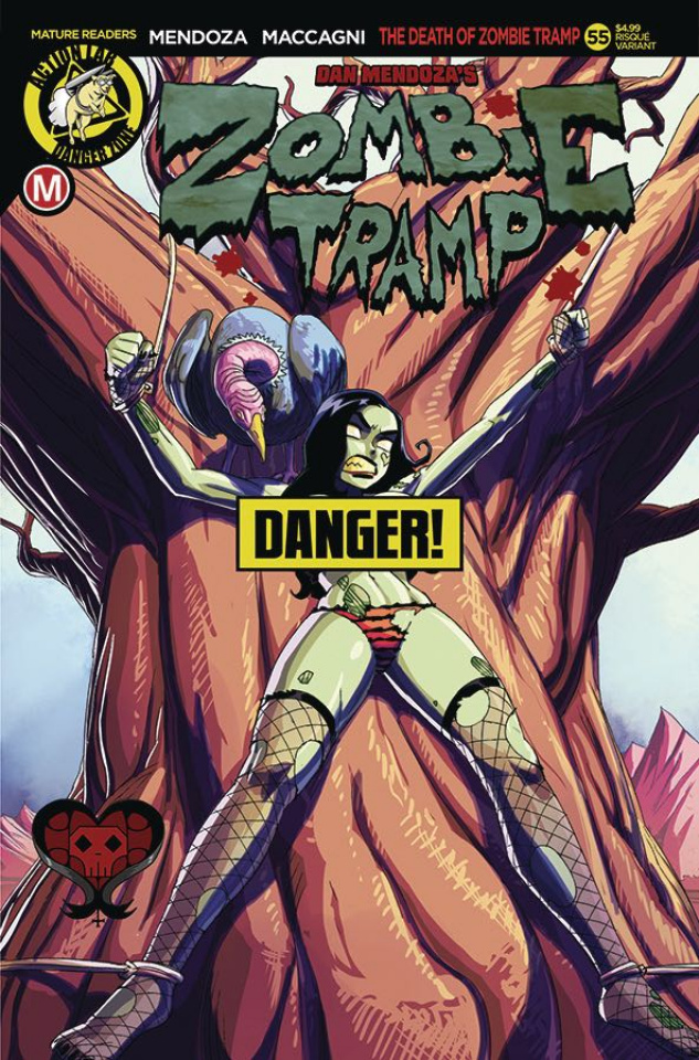 Zombie Tramp #55 (Winston Young Risque Cover)