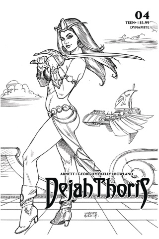 Dejah Thoris #4 (25 Copy Linsner B&W Cover)