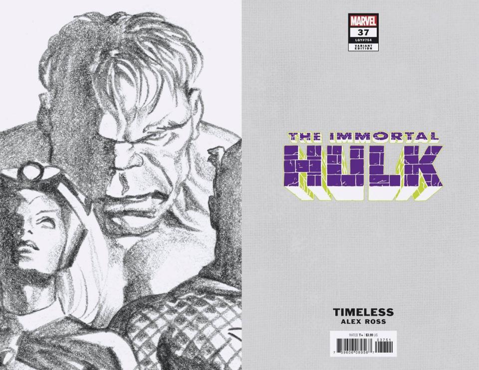 The Immortal Hulk #37 (Alex Ross Hulk Timeless Virgin Sketch Cover)