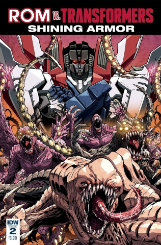 ROM vs. The Transformers: Shining Armor #2 (Milne Cover)