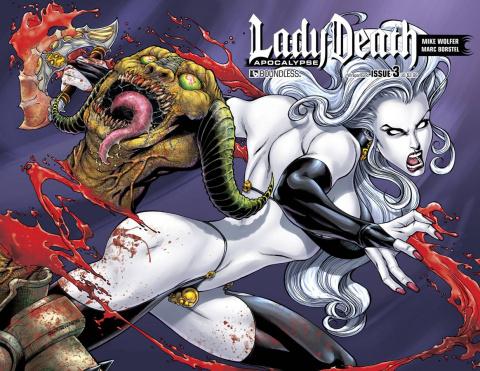 Lady Death: Apocalypse #3 (Wrap Cover)