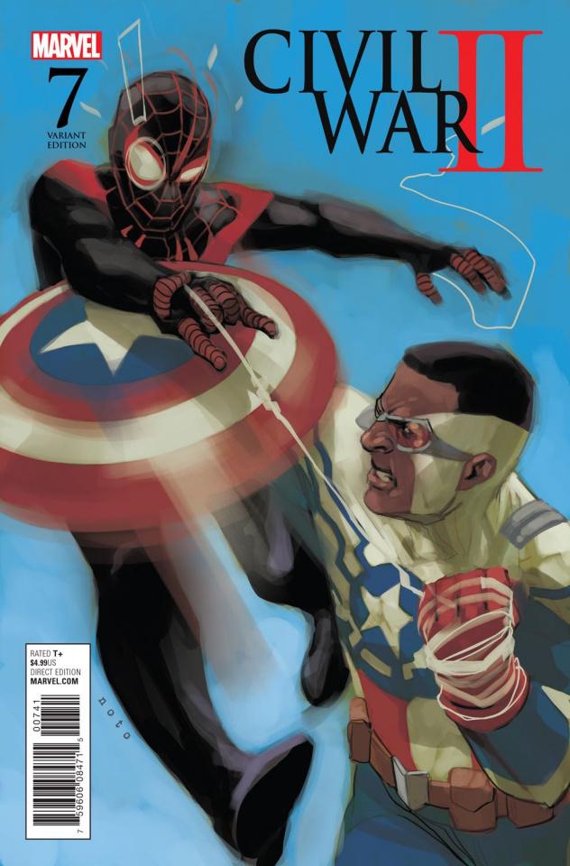 Civil War II #7 (Noto Miles vs. Sam Cover)