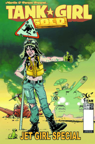 Tank Girl: Gold #3 (Bond Cover)