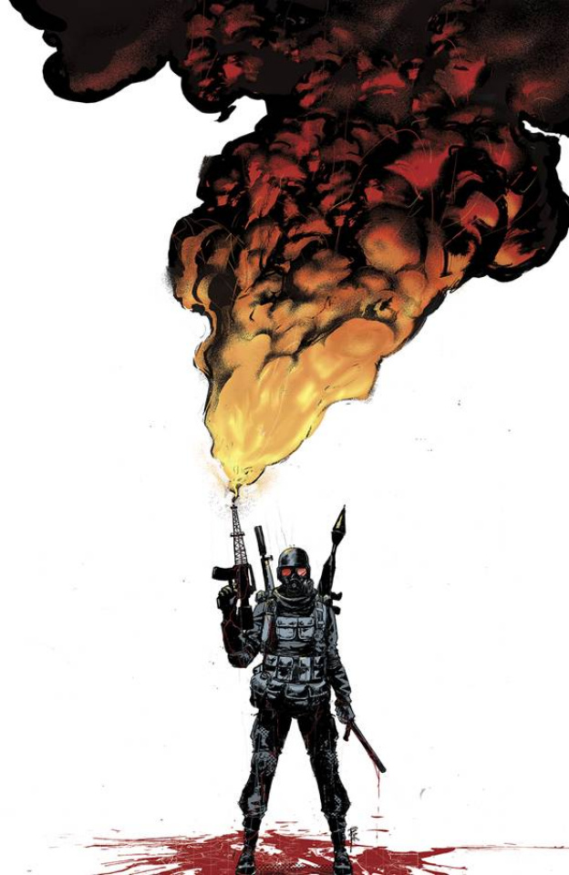Burning Fields #1 (20 Copy Rossmo Cover)