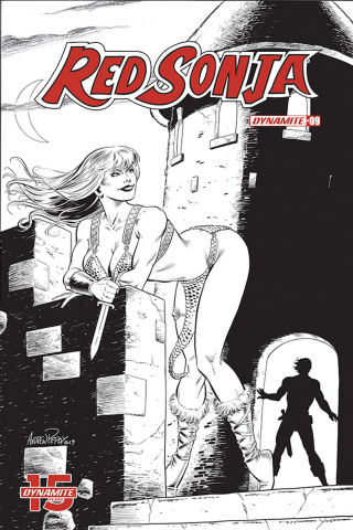 Red Sonja #9 (50 Copy Bob Q Seduction B&W Cover)