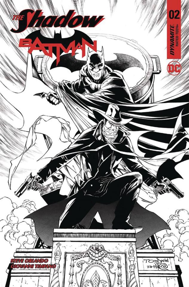 The Shadow / Batman #2 (50 Copy Daniel B&W Cover)