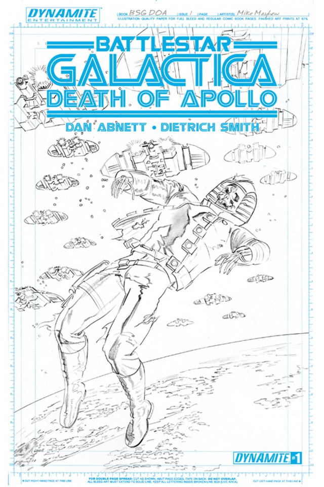 Battlestar Galactica: Death of Apollo #1 (Rare Mayhew Artboard Cover)