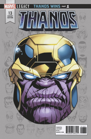 Thanos #13 (McKone Legacy Headshot Cover)