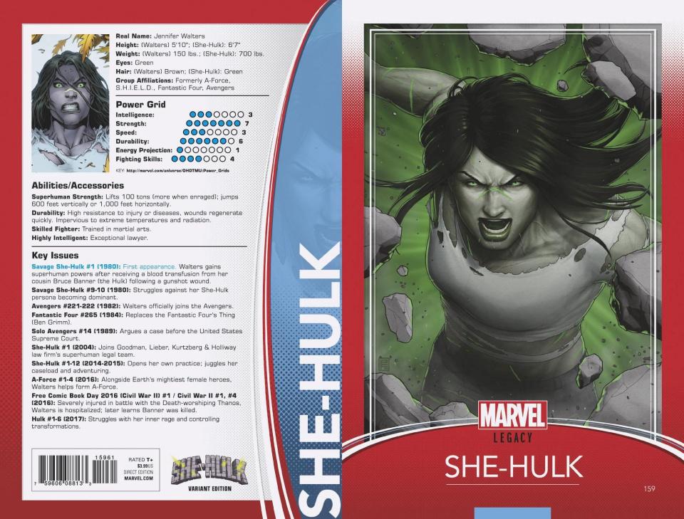 She-Hulk #159 (Christopher Trading Card Cover)