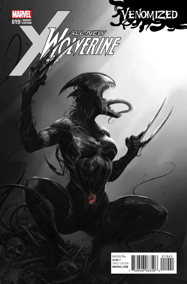 All-New Wolverine #19 (Mattina Venomized B&W Cover)