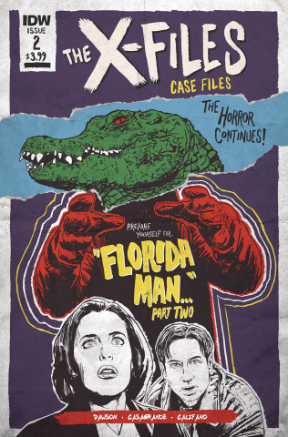 The X-Files Case Files: Florida Man #2 (Nodet Cover)