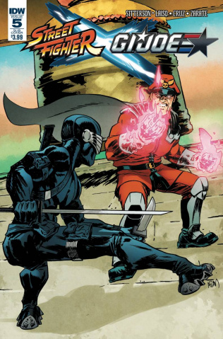 Street Fighter X G.I. Joe #5 (Subscription Cover)