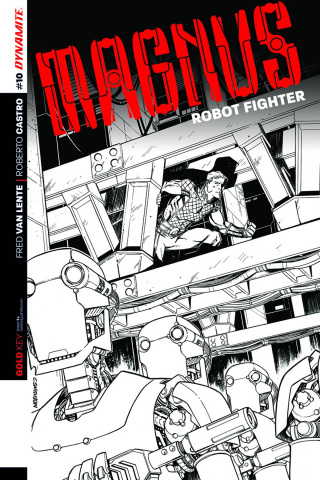 Magnus, Robot Fighter #10 (25 Copy Smith B&W Cover)