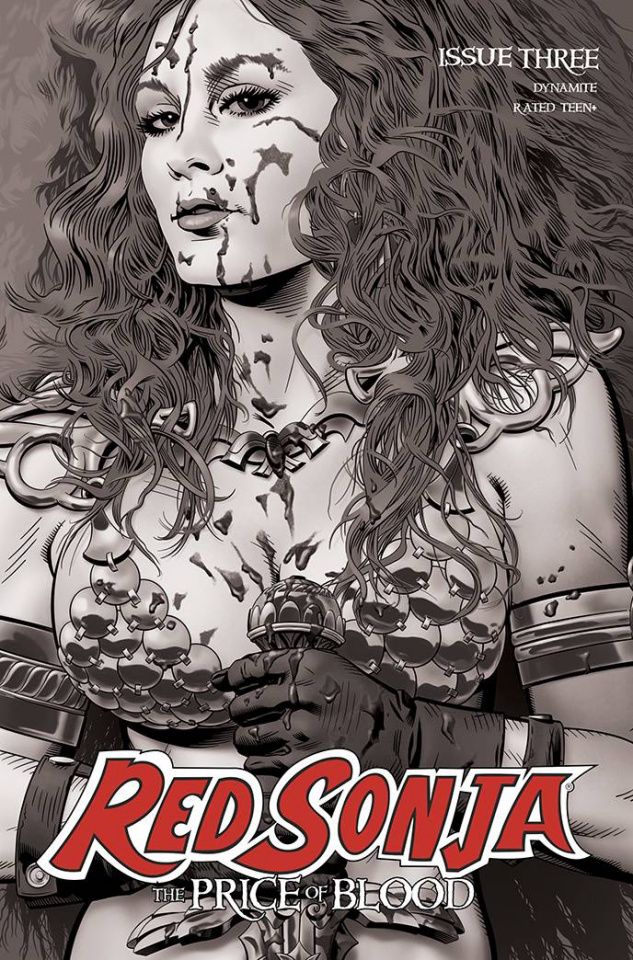Red Sonja: The Price of Blood #3 (10 Copy Golden B&W Cover)