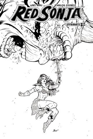 Red Sonja #13 (20 Copy Schoonover B&W Cover)