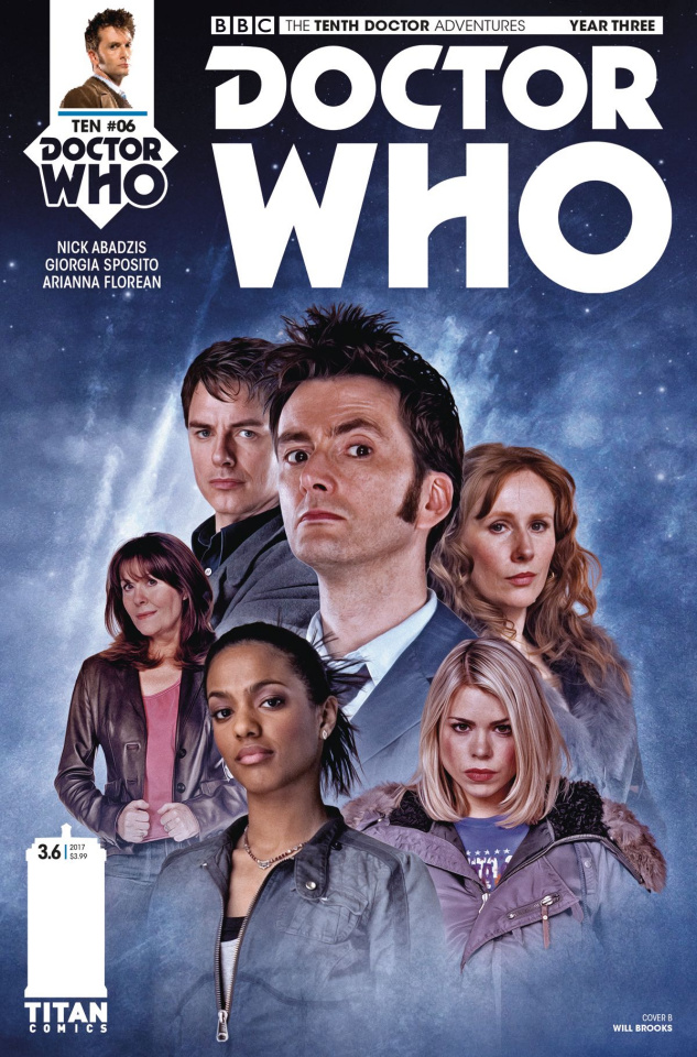 Doctor Who: New Adventures with the Tenth Doctor, Year Three #6 (Brooks Cover)