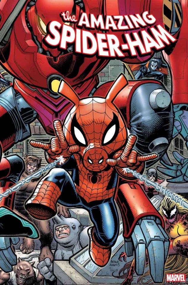 Spider-Ham #1 (Art Adams 8 Part Connecting Cover)