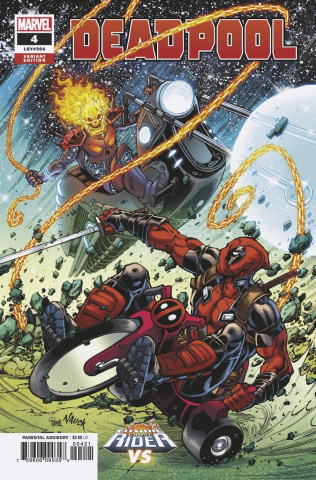 Deadpool #4 (Nauck Cosmic Ghost Rider Cover)