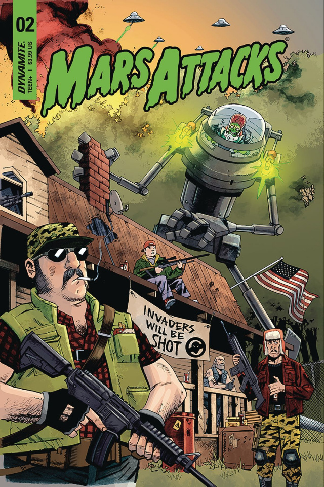 Mars Attacks #2 (Marron Cover)