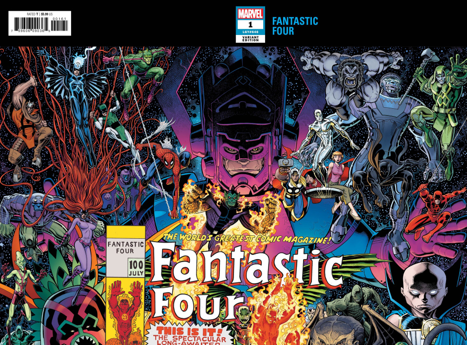 Fantastic Four #1 (Art Adams Connecting Wraparound Cover)