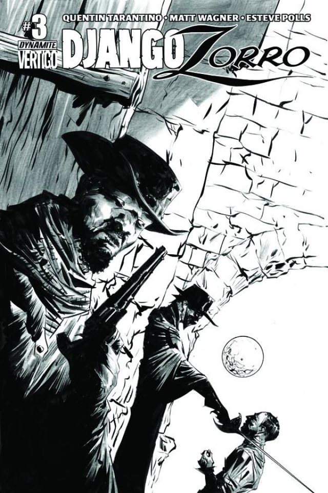 Django / Zorro #3 (25 Copy Lee B&W Cover)