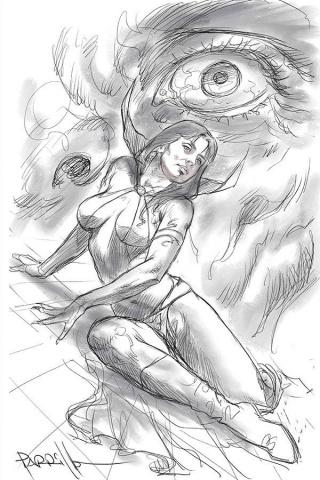 Vampirella #15 (50 Copy Parrillo Virgin B&W Cover)