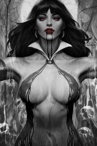 Vampirella #2 (50 Copy Lau Noir Cover)