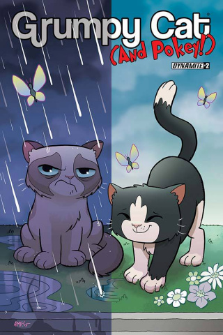 Grumpy Cat (and Pokey!) #2 (Fleecs Cover)