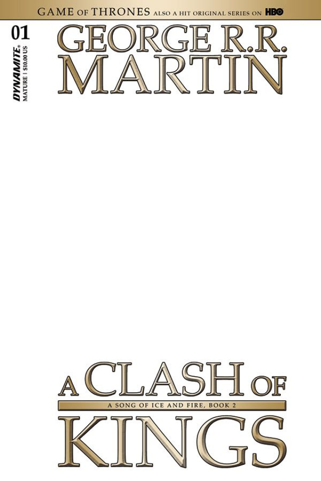A Game of Thrones: A Clash of Kings #1 (Blank Authentix Cover)