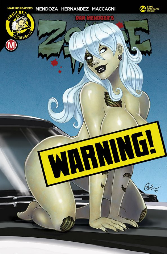 Zombie Tramp #64 (Harrigan Risque Cover)
