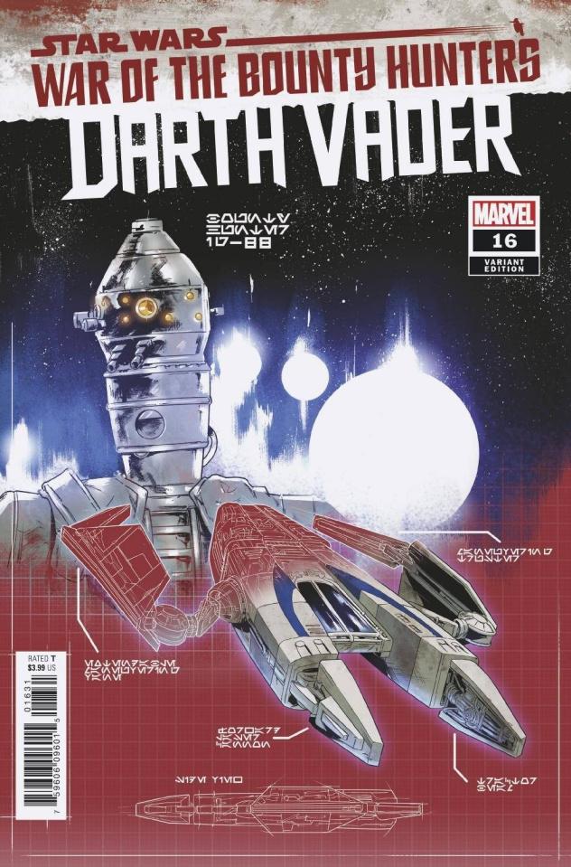 Star Wars: Darth Vader #16 (Villanelli Blueprint Cover)