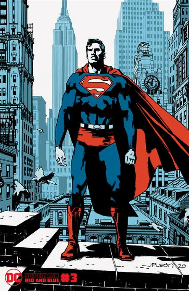 Superman: Red and Blue #3 (John Paul Leon Cover)