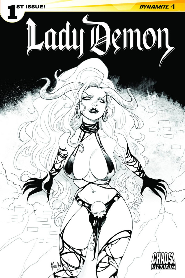 Lady Demon #1 (20 Copy Andolfo B&W Cover)