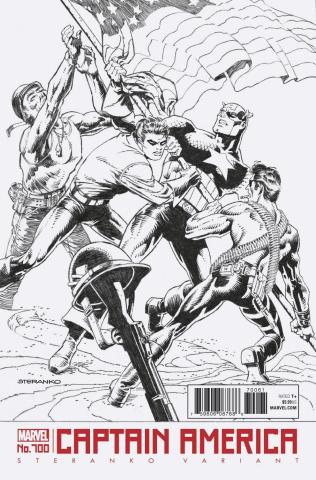 Captain America #700 (Steranko B&W Cover)