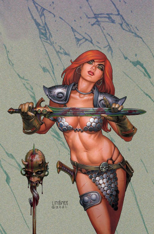 The Invincible Red Sonja #3 (Linsner Virgin Cover)