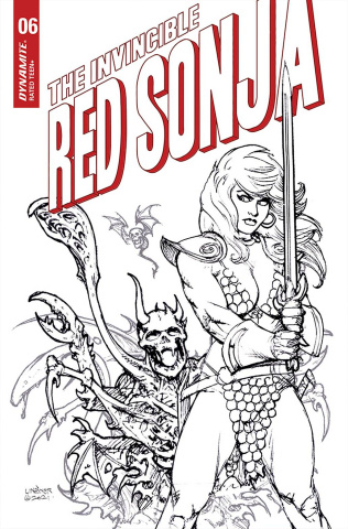 The Invincible Red Sonja #6 (25 Copy Linsner B&W Cover)