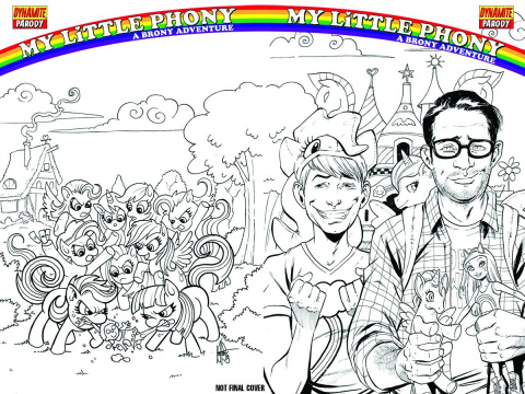 My Little Phoney: A Brony Adventure #1 (Haeser Cover)