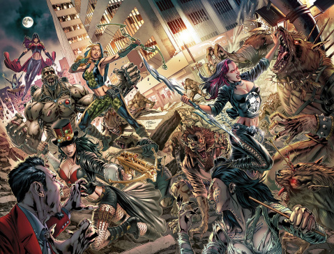 Van Helsing vs. The League of Monsters #6 (Vitorino Cover)
