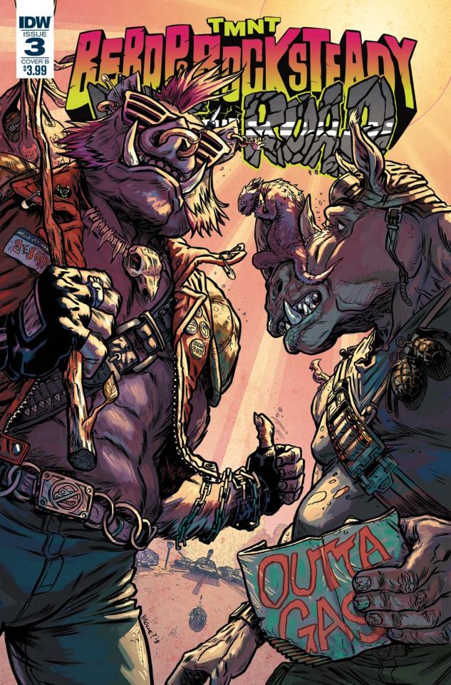 Teenage Mutant Ninja Turtles: Bebop and Rocksteady Hit the Road #3 (Browne Cover)