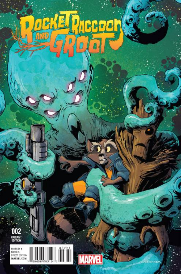 Rocket Raccoon and Groot #2 (Kesinger Cover)