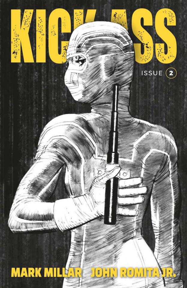 Kick-Ass #2 (B&W Romita Jr. Cover)