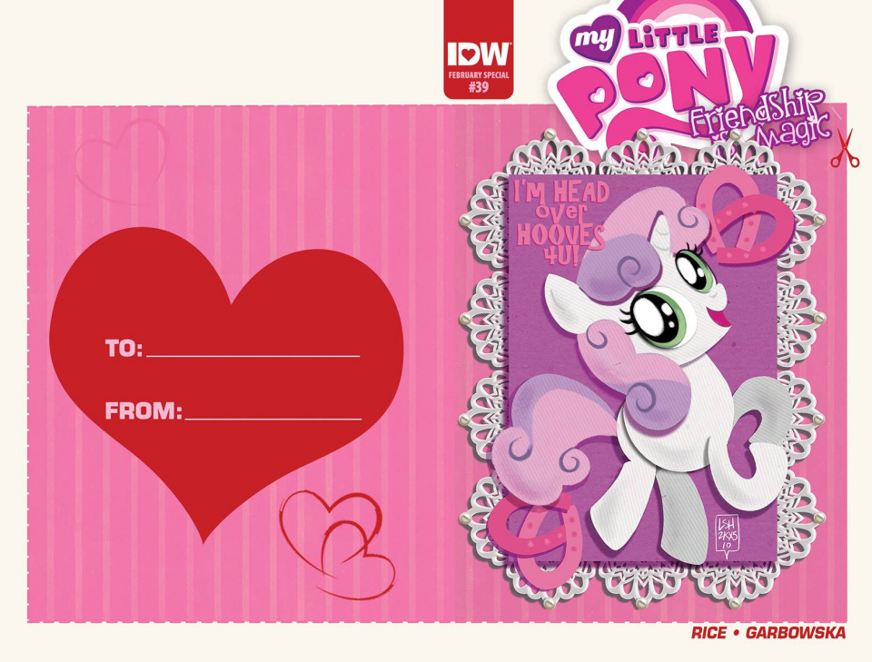 My Little Pony: Friendship Is Magic #39 (Valentine's Day Card Cover)