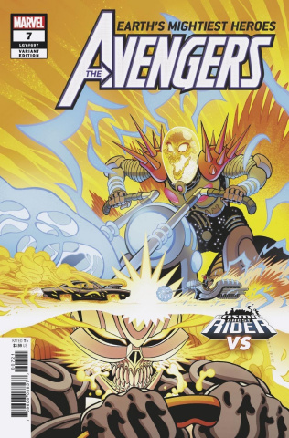 Avengers #7 (Moore Cosmic Ghost Rider Cover)
