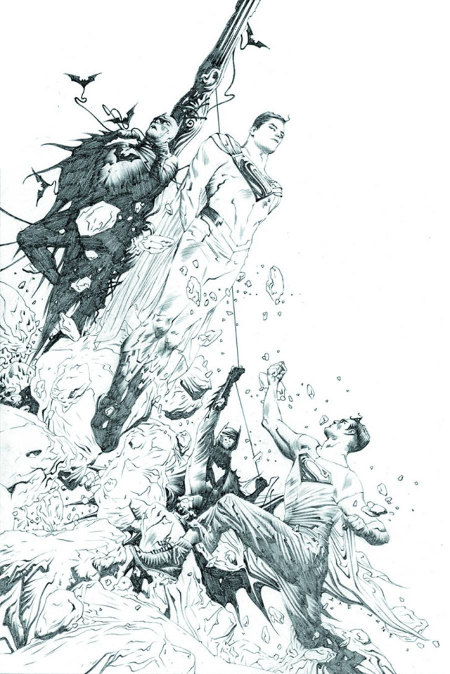 Batman / Superman #2 (Black & White Cover)